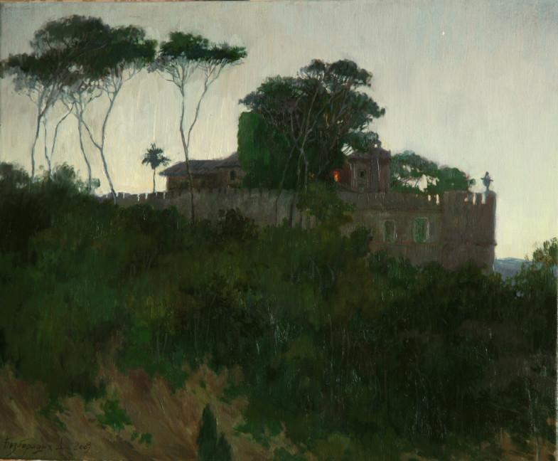 Замок Одескальки (х.м.,40х50,2009г.)
